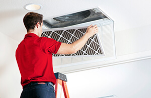 Air duct filter replacement