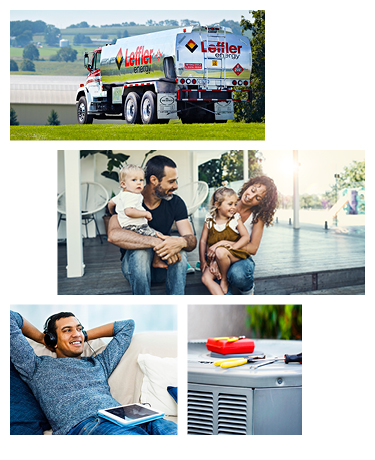 Heating Oil Truck and Customers